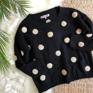 Ayla Black Boxy Polka Dot Sweater